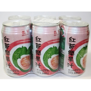 FAMOUSE HOUSE PINK GUAVA JUICE 340MLX6X4