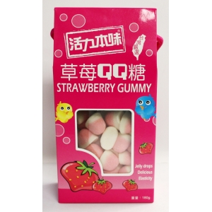 CANDY-STRAWBERRY GUMMY 180GMX12BOX