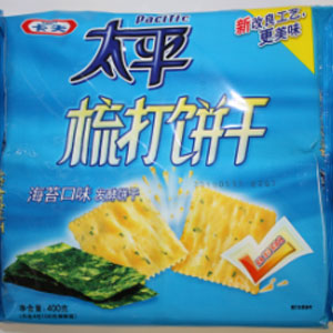 KRAFT PACIFIC soda crackers(seaweed) 400Gx12Bag