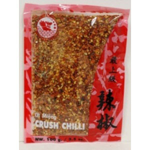 "Red drago dried chili powder ""crush"" 100Gx100"