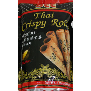 DEE THAI CRISPY ROLLS DURIAN FLAVOR BIG ROLL 150GX24