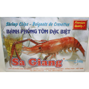 Sa Giang Shrimp Chips(1big shrimps infront) 200Gx55