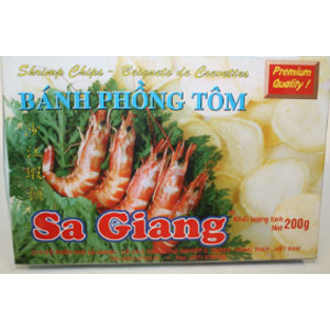 Sa Giang Shrimp Chips(5 shrimps infront) 200Gx55